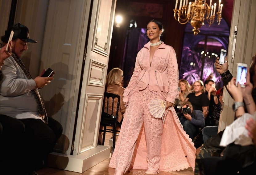 Rihanna walks the runway during Fenty x Puma by Rihanna show in Paris. (Jacopo Raule/Getty Images For Fenty X Puma)