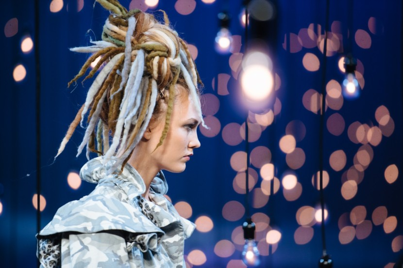 Marc Jacobs's kerfuffle-causing runway dreadlocks. (Kate Warren/For The Washington Post)