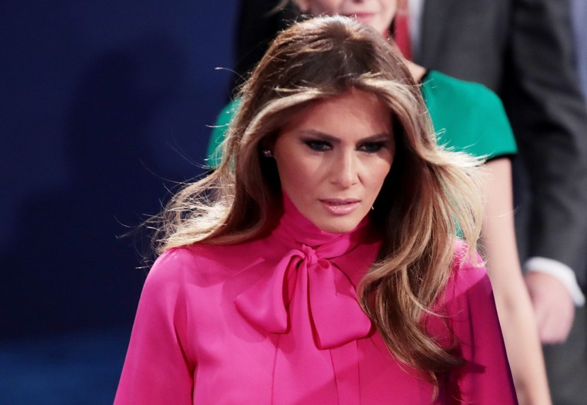 Melania Trump and the pussybow blouse. (Scott Olson/Getty Images)