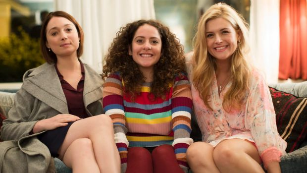 Edie (Antonia Prebble), Julia (Maria Angelico) and Roxy (Lucy Durack) in new Ten drama Sisters. Photo: Supplied