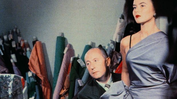 The haute ticket in town will the NGV's House of Dior show and gala. The great designer Christian Dior drapes fabric on model Sylvie in 1948. Photo: Bellini