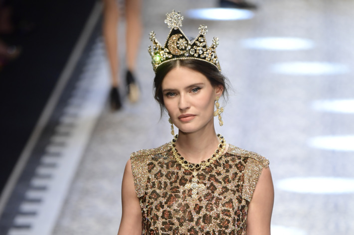 Bianca Balti on the runway. Photo: Victor Boyko/Getty Images